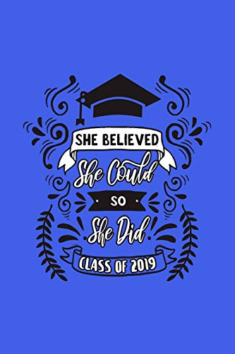 She Believed She Could So She Did: Blank Lined Notebook. Empowering feminist graduation gift for teen girls, women, her. Perfect present for a High School or College graduate or student