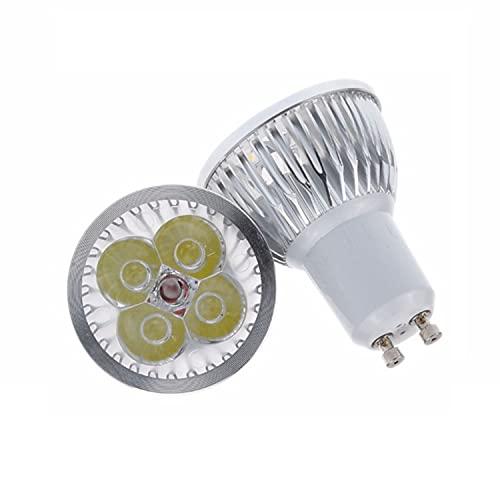 XNJHMS Bombillas LED GU10 GU5.3 (Paquete de 4) 5W (Equivalente a halógeno de 50W) 3000K Blanco cálido Luz de riel empotrada ultrabrillante Paisaje 60 Grados Angel Beam