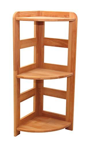 Praktisches Regal Beethoven, 90x33x33cm, Eckregal, Echtholz Buche geölt, für Wohnzimmer, Büro oder Kinderzimmer, Echtes Holz