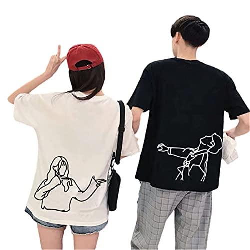 ペア カップル tシャツ ペアルック tシャツ カップル 半袖 夏 おそろい 服 カップル コーデ t シャツ おし...