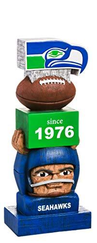 Team Sports America Seattle Seahawks Vintage NFL Tiki Totem Statue
