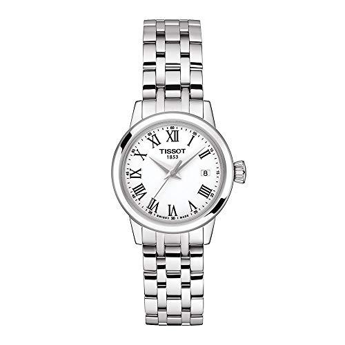 Tissot Damen-Uhren Analog Quarz One Size Silber Edelstahl 32015369