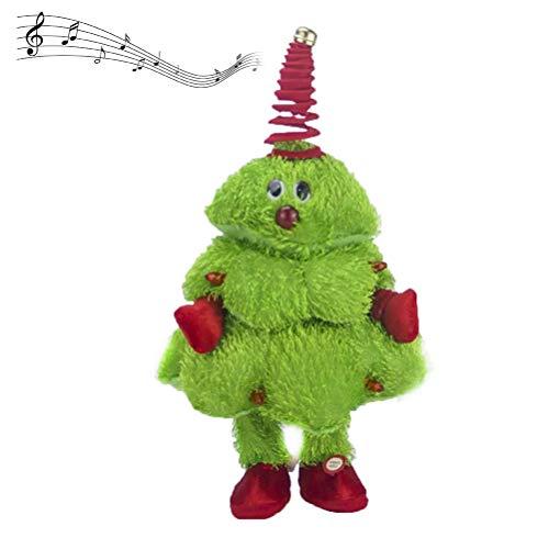 BSTEle Albero di Natale Che Canta e Balla Albero di Natale Elettrico Albero di Natale Regalo Giocattolo per Bambini