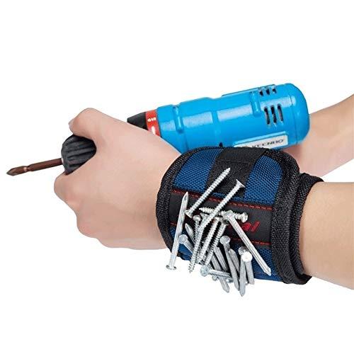 MidoriMori Magnetisches Armband Starke Magnete mit Tischlerwerkzeug zum Halten von Schrauben, Nägeln, Bolzen, Bohrern und kleinen Werkzeugen Vater & Männer Gadgets Spezielles DIY Geschenk