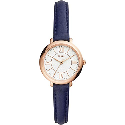 Fossil Damen Analog Quarz Uhr mit Leder Armband ES4410