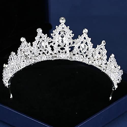 Bruids Hoofddeksels Bridal Crown Rhinestone Crystal bruiloft kroon prinses hoofdtooi bruids handgemaakte haaraccessoires…