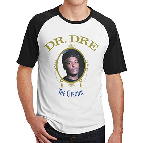 GUBARUN Mens Graphic Printing of Dr DRE The Chronic Printed T Shirt L Black