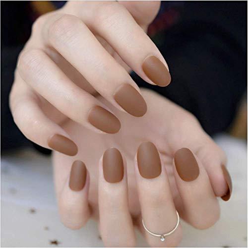 Valse nagels, nep nagels, natuurlijke parel elegante touch Franse Manicure, kleine korte ovale valse nagels, duidelijke glitter ster decoratie kunstnagels voor kinderen studenten nagel kunst tips 3