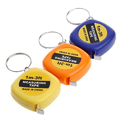 unknows Règle rétractable Facile Ruban à mesurer Mini Règle de Traction Portable Porte-clés 1 m / 3ft Porte-clés pour Hommes Porte-clés Porte-clés Porte-clés personnalisés Porte-clés pour Femmes