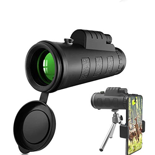 Monocular Telescope, 40X60 High Power HD Monocular with Smartphone Holder & Tripod - [Upgrade] Waterproof Monocular with Durable and Clea Focus for Bird Watching, Camping, Hiking