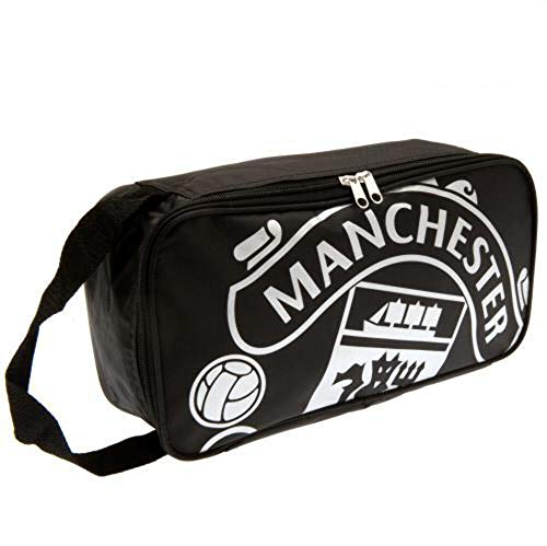 Manchester United FC Boot Bag School Boots Training Sport Black Crest Fan Official