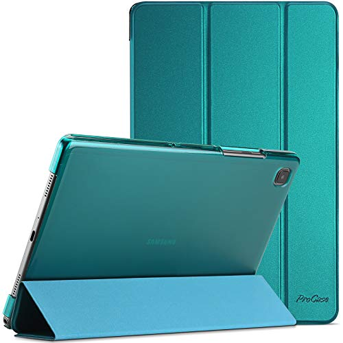 ProCase Custodia per Galaxy Tab A7 10.4 Pollici 2020[SM- T500/ T505/ T507], Smart Cover Ultra Sottile Leggero Copertura Intelligente, Cover Traslucida Smerigliata con Auto Svegliati/Sonno -Smeraldo
