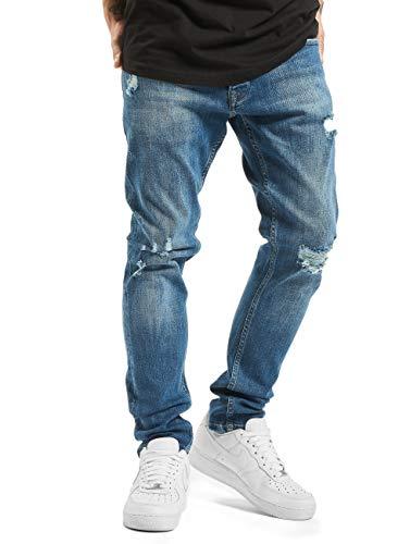 2Y Herren Slim Fit Jeans Mika blau W 30