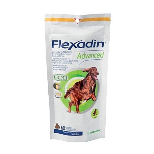 Vetoquinol Flexadin Advance Envace con 60 Comprimidos de Alimento Complementario Dietético para Perros