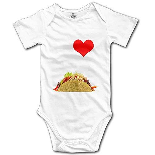 SDGSS Ropa para bebés I Love Tacos Baby Short Sleeve Baby Cute Jumper Jumpsuits