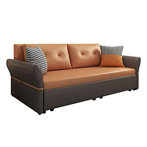 N/Z Home Equipment Luxury Sofa Bed Loveseat Sleeper Pull Out Futon Couch Multifunctional Solid Wood Folding Sofa Furniture with Storage Ergonomic Design Seat Cushion for Living Room Apartment 1.8M