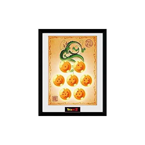 GB Eye Photographie encadrée Boules de Dragon Ball z, Dragon, Multicolore, 16 X 30,5 cm