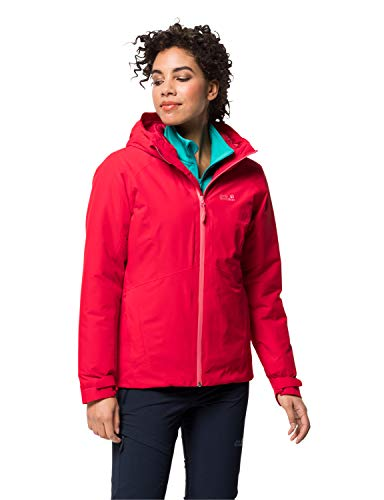 Jack Wolfskin Damen ARGON STORM JACKET W wasserdichte Winterjacke, Clear red, S