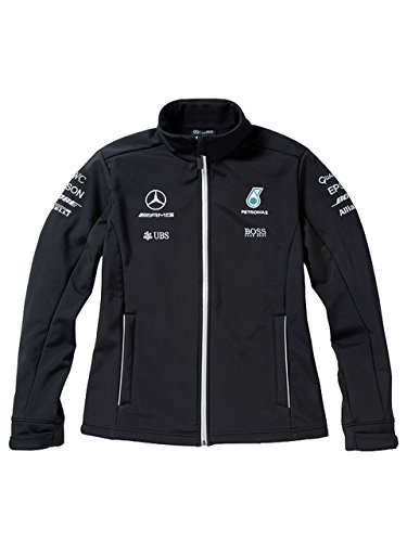 Mercedes-Benz Softshelljacke Herren, Team Mercedes AMG Petronas (Large)