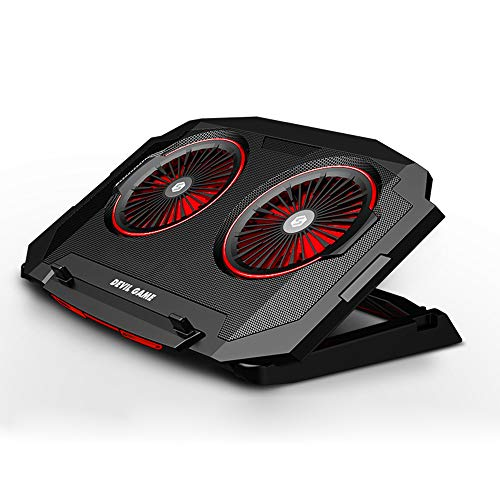Multi Led Light Portable Ultra Slim USB Powered Gaming Laptop Cooling Pad, 12-17 Inch Laptop Cooler Pad with 2 Quiet Fans