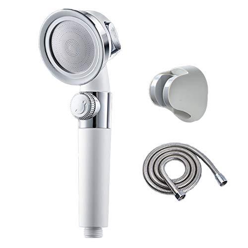 jeerbly Cabezal de ducha – ducha ajustable de mano de alta presión con manguera de 1,5 m, 3 modos de aumento de cabezal de ducha para adultos, niños, mascotas, uso en el hogar y en el gimnasio