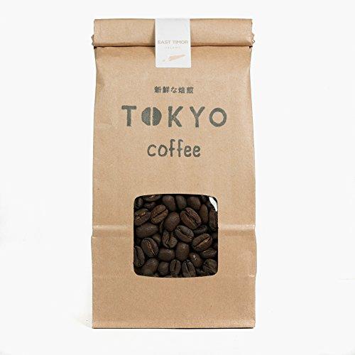 東京コーヒー 自家焙煎 コーヒー豆 さっぱり 中浅煎り 東ティモール シングルオリジン オーガニック コーヒー 粉 (中細挽き 200g)