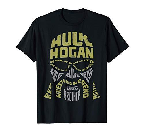 US WWE Hulk Hogan Word Cloud Face 01 2021 Camiseta