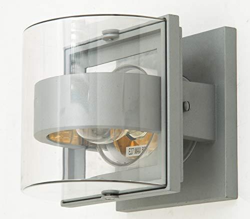 Eco Light wandlamp, metaal, E27, zilver