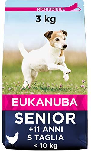 EUKANUBA euka NUBA Senior crocchette per Cani di Piccola Anziani con Pollo Fresca