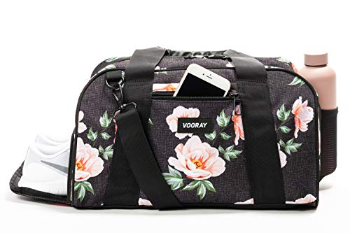 Best Women's Gym Bag with Shoe and Water bottle Pocket