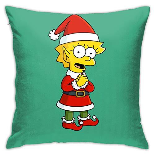 ZVEZVI El disfraz de Navidad de la hermana de los Simpson es suave y lavable 45 x 45 cm