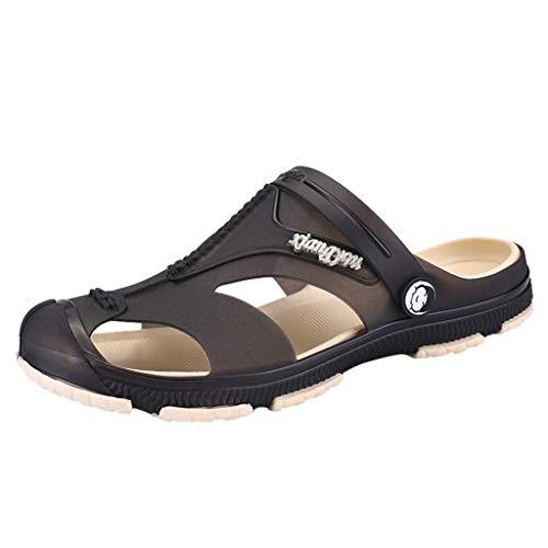 Zuecos de Verano Antideslizante Sandalias de Playa Verano para Hombres Zapatillas Ligeros Respirable Zapatos Verano Las Sandalias Planas,Tallas 40-45 riou