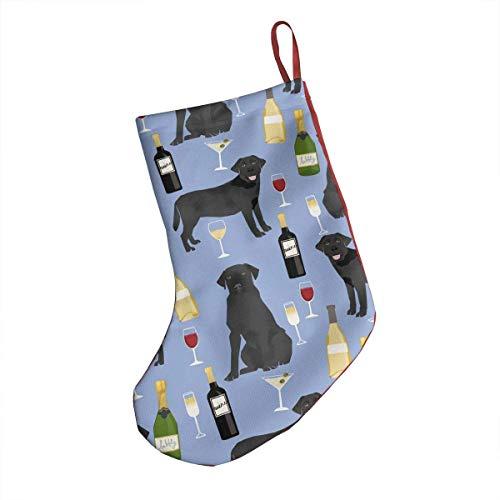 Labrador Retriever schwarzer Hund Champagner unter dem Motto Weihnachtsstrümpfe Dekoration Weihnachten Socken Ornament 18 Zoll XL große Bulk Big Jumbo Riesen Indoor Home Party Supplies Artikel Zubehör
