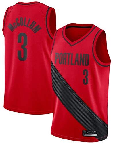 NBA Basketbalshirt Portland Trail Blazers 3 # ademend basketbalshirt zonder mouwen McCollum Basketball hemd voor heren
