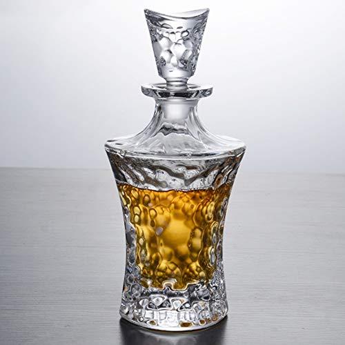 GAOXIAOMEI Decantador De Whisky Ripple Decantador De Licor De Herencia Premium Decoración De Oficina para Hombres Colección Decantador De Whisky para Licor, Whisky, Bourbon, Brandy, Vodka