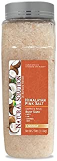 Natural Solution Pink Salt Body Soak With coconut, natural Body Soak To Detoxify & Clean Body - 2.5 lbs