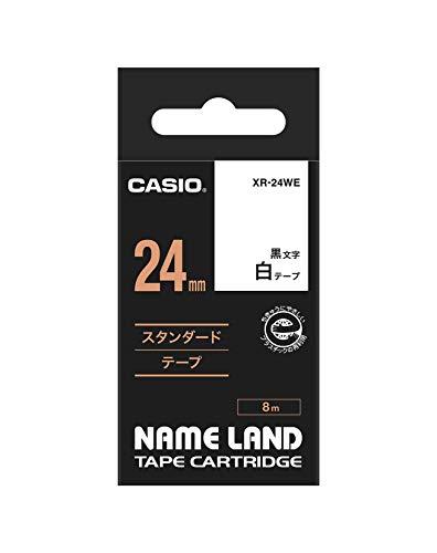カシオ ネームランド スタンダードテープ 白 XR-24WE [黒文...