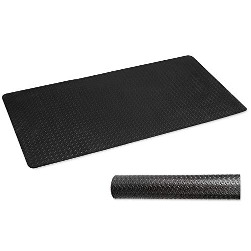 CCLIFE ZERRO Bodenschutzmatte rutschfeste Schutzmatte für Fitnessgeräte Fitness Fitnessraum Unterlegmatten Bodenmatte Trainingsmatte