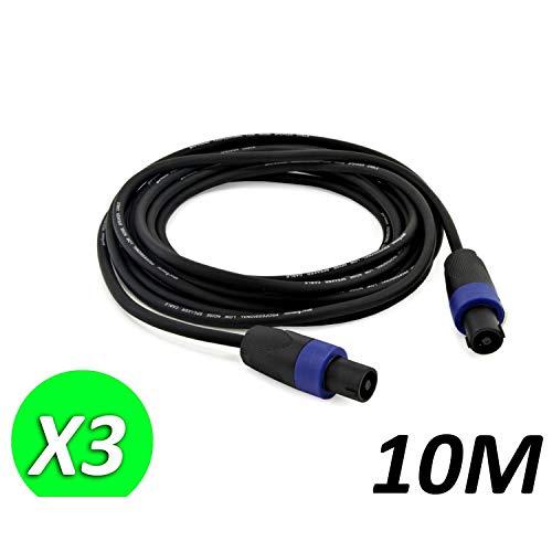 3Stück Kabel Speakon männlich/männlich 10m für Lautsprecher Soundlab go38zg