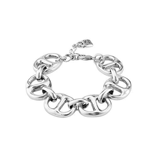 Uno de 50 Bracelet in Metal clad with Silver.