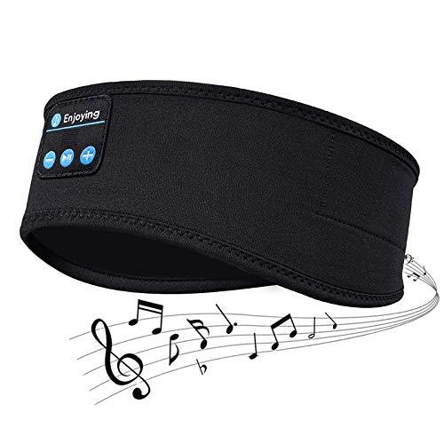 Auriculares inalámbricos Bluetooth V5.0 Headband con altavoces estéreo HD ultrafinos integrados, adecuados para dormir en el lateral, deporte, yoga, fitness, relajación