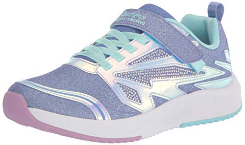 Skechers Jungen Mädchen Speed Runner Sneaker, Lavender Sparkle Mesh/Aqua Trim, 18 EU
