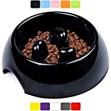 DDOXX Comedero Antivoracidad Perro, Antideslizante Tamaños   para Perros Pequeño, Mediano y Grande   Bol Accesorios Melamina Gato Cachorro   Negro, 600 ml