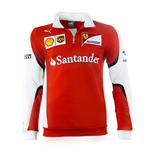 PUMA SF Scuderia Ferrari Formel 1 Team Half-Zip Fleece Sweater Pullover rot F1 rot/weiß XS