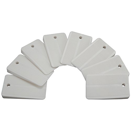 Plumb Pak PP836-55 Keeney Toilet Leveling Shims, Multi-Purpose Design for Furniture, Cabinets, and Tables, 8-Pack, White, 8 Count
