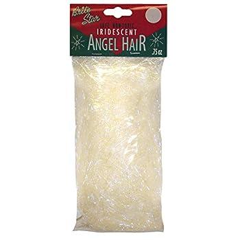 Brite Star Decorations Iridescent Angel Hair Christmas Décor White