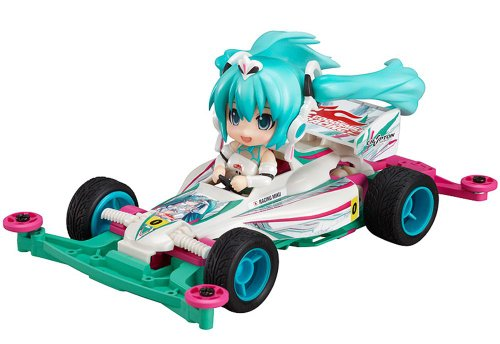 VOCALOID: Racing Miku 2012 with Mini 4WD Car Astute Special Nendoroid Petit Action Figurine Set (2 pieces)
