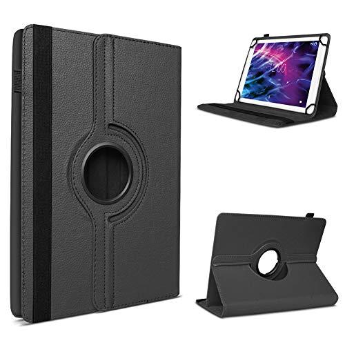 UC-Express Tablet Schutzhülle für Medion Lifetab P8912 hochwertiges Kunstleder Hülle Tasche Standfunktion 360° Drehbar Cover Universal Case, Farben:Schwarz