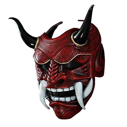 Rvest Ghost Tsushima Maske,Halloween Face Cover -Soft Evil Cosplay Kostüm Kopfbedeckung Prop