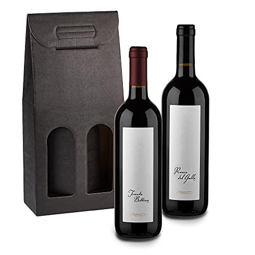Botticino DOC Tenuta Bettina 1 Flasche + Ronco Del Gallo 1 Flasche, Rotweinen 0.75ml x 2 Flaschen, 13.5 und 13% Vol, Made in Italy